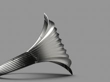Wavy Shield Ring